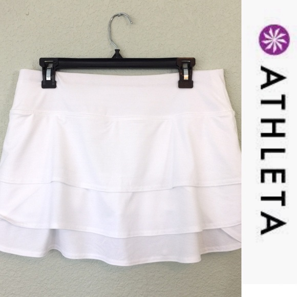 74196ad70f Athleta Shorts | 30 Off 2more Swagger Skort White Medium | Poshmark